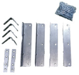 Waterbed Hardware Brackets & Screws for California King, Queen & Super Single Hardside Wood Frame Water Beds|waterbed parts, waterbed brackets and screws, hardware brackets and screws, bed parts, bed accessories