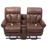Companion Loveseat Recliner by Mega Motion loveseats, recliner, companion, chaise, chaise lounge sofa, chaise lounge chair, chaise sofa, sofa chaise, tobacco, buff