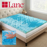 Boyd Specialty Sleep Lane 2 inch Gellux Convoluted Tri-Zone Gel Mattress Topper boyd specialty sleep, mattress toppers, gel toppers, lane toppers, mattress pad, bed toppers