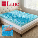 Boyd Specialty Sleep Lane 3 inch Gellux Convoluted Tri-Zone Gel Mattress Topper boyd specialty sleep, mattress toppers, gel toppers, lane toppers, mattress pad, bed toppers
