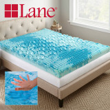 Boyd Specialty Sleep Lane 4 inch Gellux Convoluted Tri-Zone Gel Mattress Topper boyd specialty sleep, mattress toppers, gel toppers, lane toppers, mattress pad, bed toppers