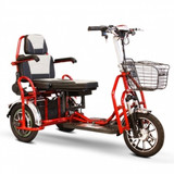 EW-02 Folding Heavy Duty Bariatric Scooter By Ewheels|ewheels, ew-20, red, white, electric scooter, mobility scooters, scooter bike, electric scooter for adults, 3 wheel scooter, scooters for sale, motor scooter, scooter electric, new scooters