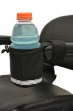 Mobility Scooters Polyester Made Cup Holder Transparent in Color by Ewheels|ewheels, cup holder, scooter accessories, mobility scooter accessories, cup holder for scooter, accessories for mobility scooters, drink holder, cupholders