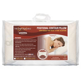 Positional Contour Pillow Contoured For Back And Side Sleepers