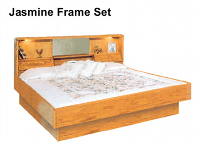 Oak Jasmine Oak Waterbed Hardside Foundation Waterbed Base - Waterbed bedroom furniture