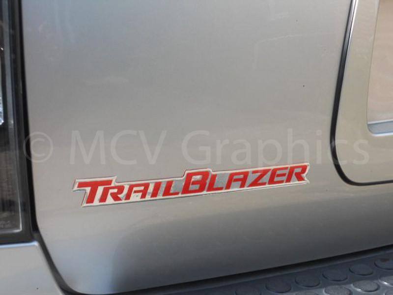 Rear Hatch Trailblazer Decal Motor City Vinyl Graphics