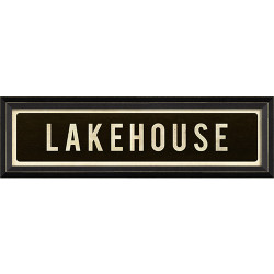 STREET SIGN BLACK - LAKEHOUSE