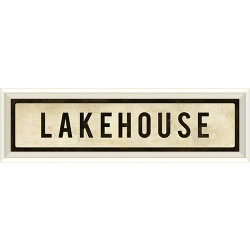 STREET SIGN WHITE - LAKEHOUSE