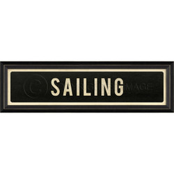 STREET SIGN BLACK - SAILING