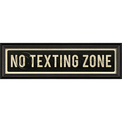 STREET SIGN BLACK - NO TEXTING ZONE