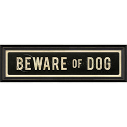 STREET SIGN BLACK - BEWARE OF DOG
