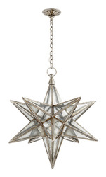 MORAVIAN STAR LARGE - SILVER LEAF