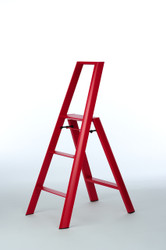LUCANO 3-STEP STOOL - RED