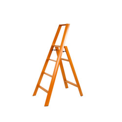 LUCANO 4-STEP STOOL - ORANGE