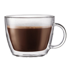 BODUM BISTRO DOUBLE WALL LATTE MUG - SET OF 2