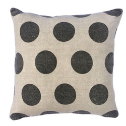 PILLOW COLLECTION - POLKA DOTS STONE WASHED