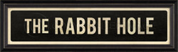 STREET SIGN BLACK - THE RABBIT HOLE