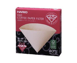 HARIO V60-02 POUR OVER FILTER - BROWN 40pk