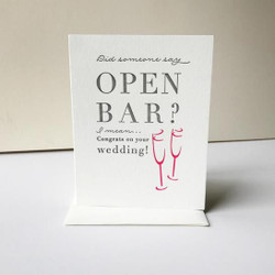 WEDDING - OPEN BAR
