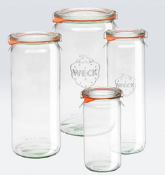 WECK CYLINDRICAL JAR - 0.25L
