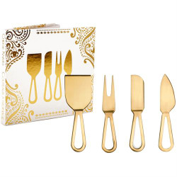 CHEESE KNIFE SET - GOLD SET OF 4