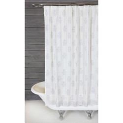 BAHAAR HAND BLOCKED SHOWER CURTAIN