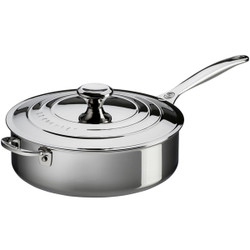 LE CREUSET TRI-PLY STAINLESS SAUTE PAN 4.3L
