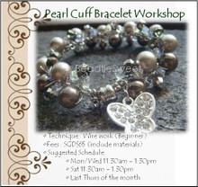 Jewellery Making Course : Make a Pearl Cuff Bracelet
