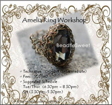 Jewelry Making Course : Amelia Ring Workshop