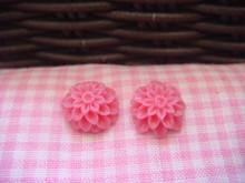 1cm Deep Pink Chrysanthemum Cabochon