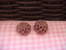 1cm Cocoa Chrysanthemum Cabochon