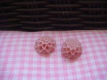 1cm Dark Indian Pink Chrysanthemum Cabochon