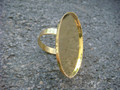 Ring with 30mm x 40mm Bezel Plate