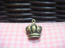 Antique Brass Crown Finding