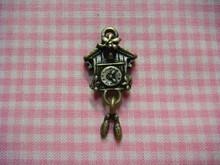 Antique Bronze Cuckoo Clock Charm