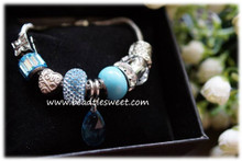 March Birthstone Bracelet using Aquamarine Swarovski BeCharmed Beads