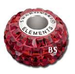 Swarovski BeCharmed Pave Bead 80201 Siam