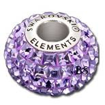 Swarovski BeCharmed Pave Bead 80201 Tanzanite