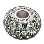 Swarovski BeCharmed Pave Bead 80201 Black Diamond