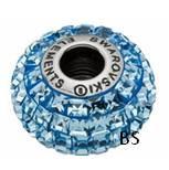 Swarovski BeCharmed Pave Bead 80201 Aquamarine