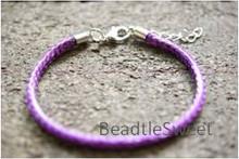 Polyester Cord Bracelet in Dark Purple