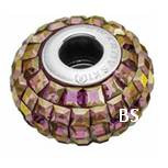 Swarovski BeCharmed Pave Bead 80201 Crystal Lilac Shadow