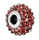 Swarovski BeCharmed Spike Bead 80401 Crystal Red Magma