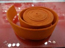 20mm Flat Suede Cord in Orange