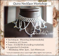 Jewelry Making : Quins Necklace Workshop for Bridal Party
