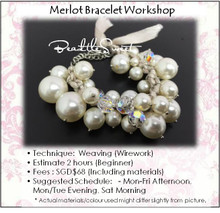 Jewelry Making : Merlot Bracelet Workshop for Bridal Party