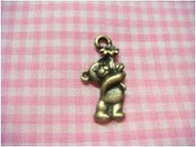 Antique Brass Bear Charm