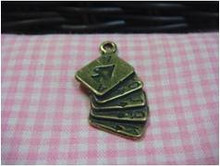 Antique Brass Poker Charm