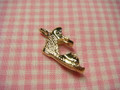 Wedge Charm Gold Plated