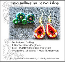 Paper Quilling Earring Workshop